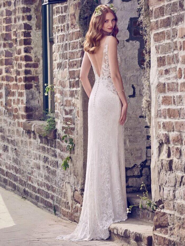 Maggie Sottero Wedding Dress Hazel 8MW472 Back