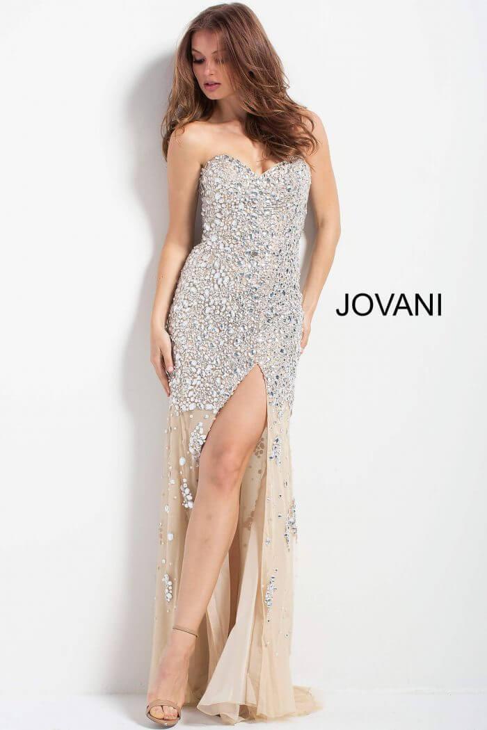 Jovani Fully Beaded Fitted Gown – 4247