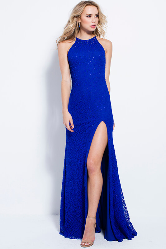 Jovani Fitted Crew-Neck Dress – 46850