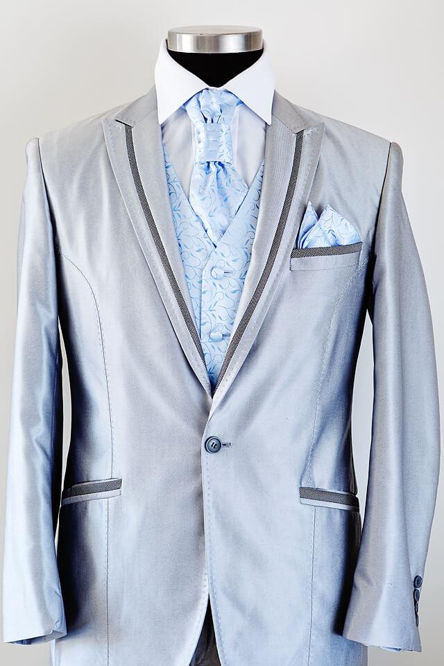 Light grey suit dark grey trim 007