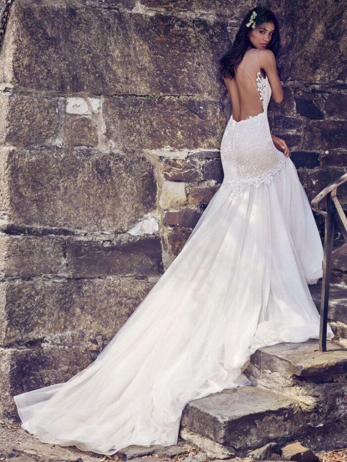 Maggie Sottero Wedding Dress Adaleine 8MC564 Back