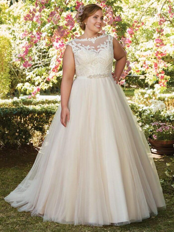 Rebecca Ingram Wedding Dress Carrie 7RS297 Plus Main