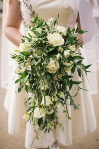 Cascading bridal bouquet to match to your wedding dress