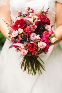 Splash of colour for your bridal bouquet
