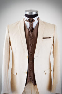 Beige Linen Suit for Groom