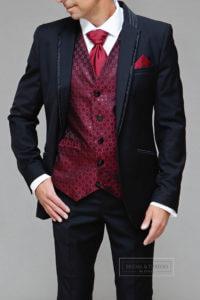 Maroon Waistcoat for Groom